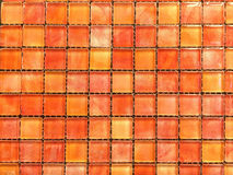 Rode de Tegelsachtergrond van het schaduwmozaïek Stock Foto's
