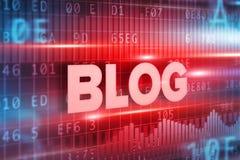 Rode de tekst rode achtergrond van het blog abstracte concept Royalty-vrije Stock Foto