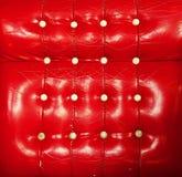 Rode de textuur oude huid van het luxeleer Stock Afbeeldingen