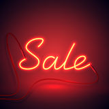 Rode de verkoop van het neonteken en sinaasappel kleur-01 Royalty-vrije Stock Foto