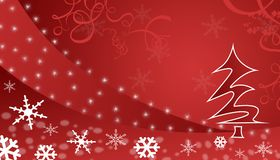 Rode de winterachtergrond Royalty-vrije Stock Afbeeldingen