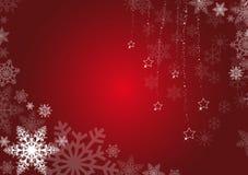 Rode de winterachtergrond Stock Afbeelding