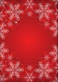 Rode de winterachtergrond vector illustratie