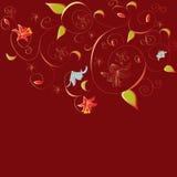 Rode decoratieve achtergrond stock illustratie