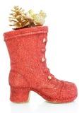 Rode decoratieve schoenen Royalty-vrije Stock Foto