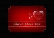 Rode decoratieve vieringskaart Royalty-vrije Stock Afbeelding