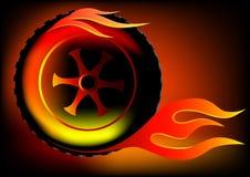 Rode dentro a flama ilustração do vetor