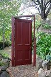 Rode deur Stock Foto's