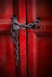Rode deur Royalty-vrije Stock Afbeeldingen