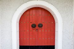 Rode deur Stock Foto