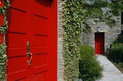 Rode Deuren Stock Foto