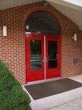 Rode deuren Royalty-vrije Stock Foto's