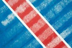 Rode diagonaal op blauw royalty-vrije stock afbeeldingen
