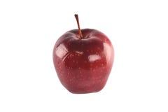 Rode die appel op witte achtergrond wordt geïsoleerd Royalty-vrije Stock Afbeelding