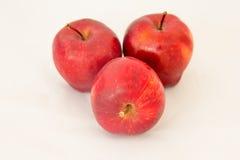 Rode die appel op witte achtergrond wordt geïsoleerd Royalty-vrije Stock Foto