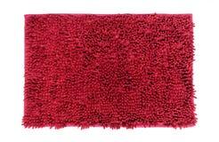 Rode die deurmat op witte achtergrond wordt geïsoleerd royalty-vrije stock fotografie