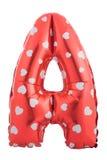 Rode die kleurenbrief A van opblaasbare ballon wordt gemaakt Royalty-vrije Stock Fotografie