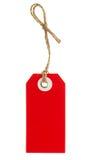 Rode die markering met koord op wit wordt geïsoleerd Royalty-vrije Stock Fotografie