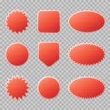 Rode die verkoopkentekens voor uw ontwerp worden geplaatst vector illustratie