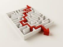 Het opgeloste raadsel van het Labyrint Stock Afbeelding
