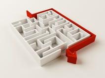 Het opgeloste raadsel van het Labyrint Royalty-vrije Stock Foto