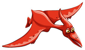 Rode dinosaurus die in de hemel vliegen Stock Fotografie