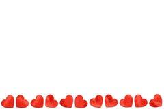 Rode document Harten op Witte Achtergrond voor Valentijnskaartendag Royalty-vrije Stock Afbeelding
