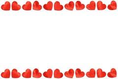 Rode document Harten op Witte Achtergrond voor Valentijnskaartendag Royalty-vrije Stock Foto