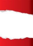 Rode document scheurachtergrond Stock Foto's