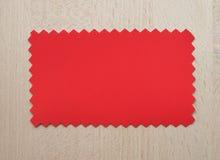 Rode document steekproef Stock Afbeelding
