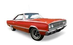 Rode Dodge-Kroonauto Stock Afbeeldingen