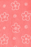 Rode doek met bloemen Stock Fotografie