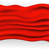 Rode Doekachtergrond Royalty-vrije Stock Foto