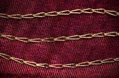 Rode doektextuur Royalty-vrije Stock Afbeelding