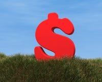 Rode dollar Royalty-vrije Stock Afbeeldingen