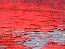 Rode Doorstane Verf Royalty-vrije Stock Afbeeldingen