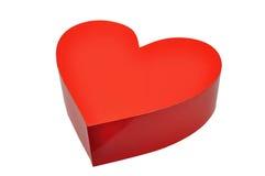 Rode doos als hart Royalty-vrije Stock Fotografie