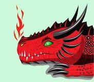 Rode draak. Stock Fotografie