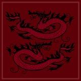 Rode draak Stock Afbeelding