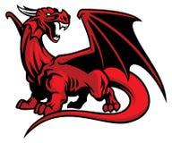 Rode draakmascotte stock illustratie