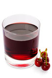 Rode drank ank kers Royalty-vrije Stock Afbeeldingen