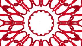 Rode driedimensionele caleidoscooppatronen r 3d geef terug stock illustratie