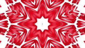 Rode driedimensionele caleidoscooppatronen r 3d geef terug vector illustratie
