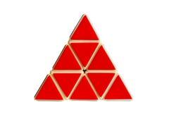 Rode driehoek royalty-vrije stock foto's