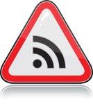 Rode driehoekig ander waarschuwingssein Stock Illustratie