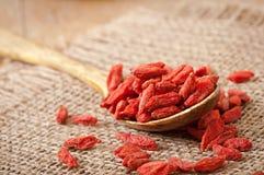 Rode droge gojibessen Stock Afbeelding