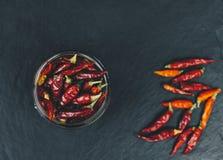 Rode droge peper Stock Afbeelding