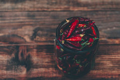 Rode droge peper Stock Fotografie