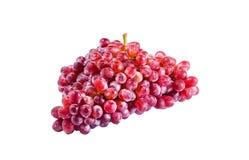 Rode druif die op wit wordt geïsoleerdS stock afbeeldingen