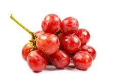 Rode druif op wit Stock Afbeeldingen